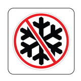 No Snowflakes Round Funny Hard Hat-Helmet Full Color Printed Decal