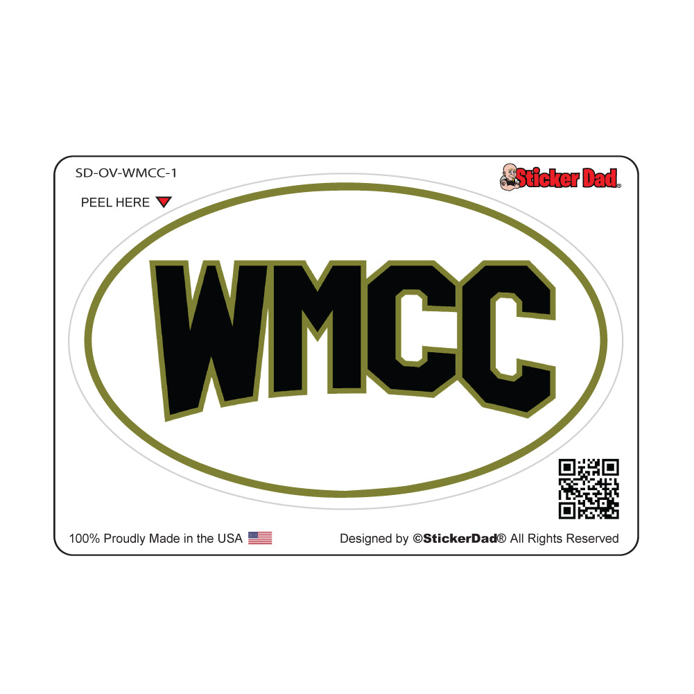 WMCC Oval Vinyl Full Printed Window Decal