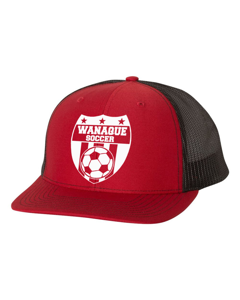 Wanaque Soccer 2 Tone Hat with Wanaque Soccer Logo on Front.