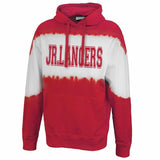 Jr Lancers Competition Cheer Skyline Tie-dye Hoodie w/ JR LANCERS Varsity Design on Front.