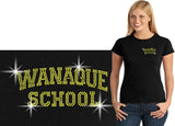 WANAQUE  Black Short Sleeve Tee w/ WANAQUE School