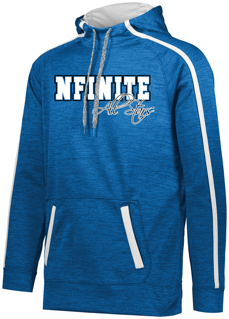 NFINITE Stoked Tonal Hoodie w/ Large NFIINITE All Stars Logo on Front.
