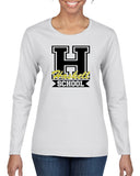 HASKELL School Heavy Cotton White Long Sleeve Tee w/ Large HASKELL School