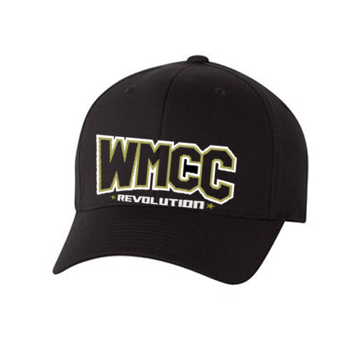 WMCC Black Flexfit Dad Hat w/ Logs Front & Back.