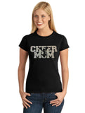 Cheer Mom w/Cheerleader Jumper V1 Glitter Bling Design