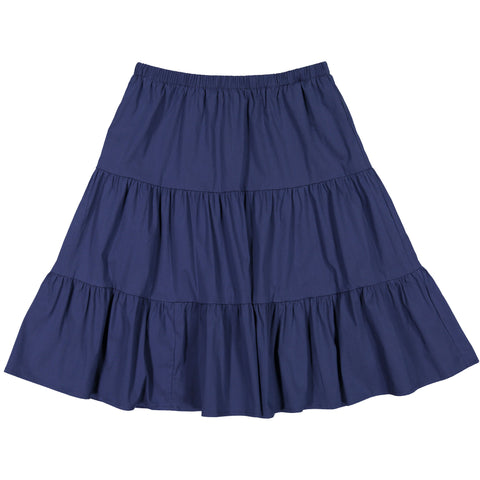 Ava & Lu Navy Tiered Skirt
