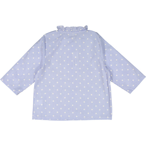 Ava & Lu The Nightdress Dot Ruffle Blouse