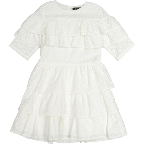 ROWE White Eyelet Layered Dress