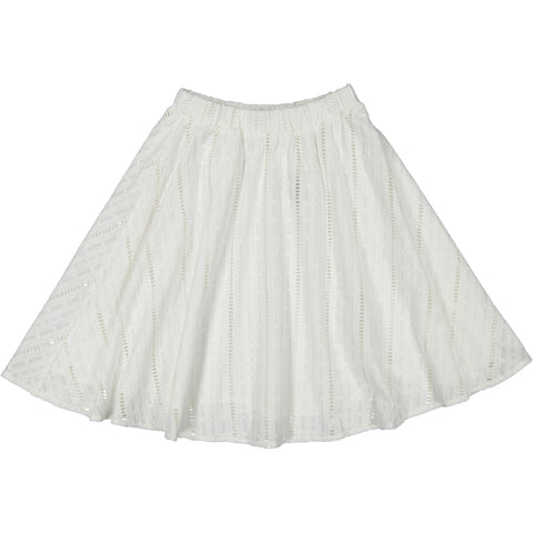 ROWE White Eyelet Skirt