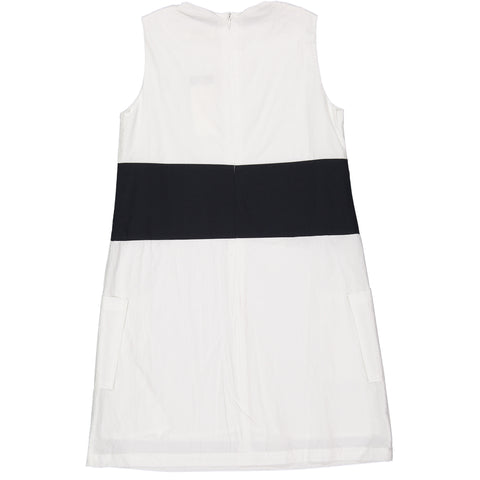 ROWE White Sailor Button Dress
