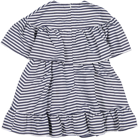ROWE Stripe Ruffle Dress