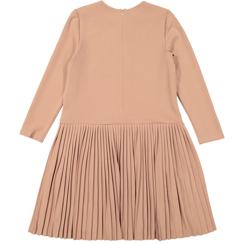 Ava & Lu Blush Pleated Dress