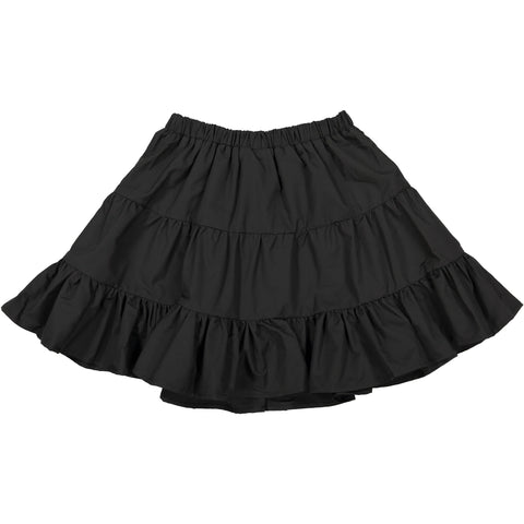 A4 Black Tiered Skirt