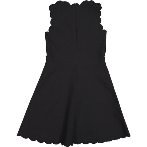 A4 Black Scalloped Dress