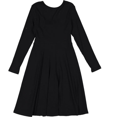 Ava & Lu Black Flair Dress