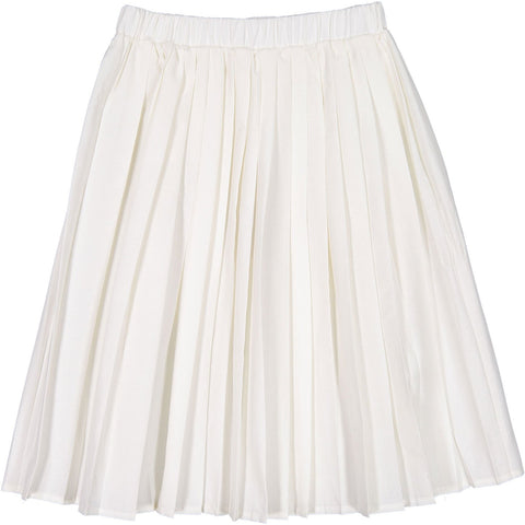 Ava and Lu Cream Pleated Skirt