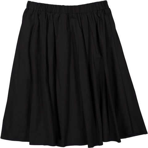 Ava and Lu Black Cotton Circle Skirt