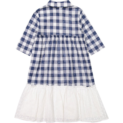 Ava and Lu Checkered Dropwaist Shirtdress