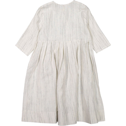 Ava and Lu White Linen Henley Dress