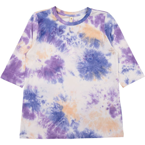 Ava and Lu Blue Tie Dye Tee