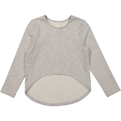 Ava and Lu Grey Cropped Tee