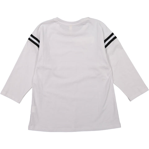 Ava and Lu White Sleeve Stripe Tee