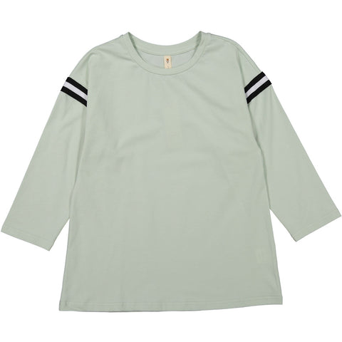 Ava and Lu Mint Sleeve Stripe Tee