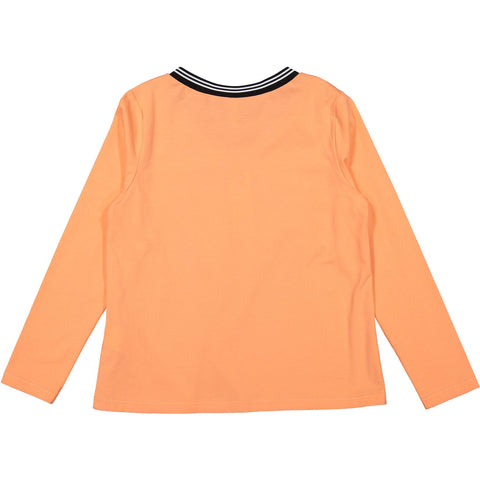 Ava and Lu Orange  V-neck Sporty Tee