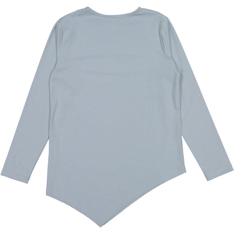 Ava and Lu Light Blue Asymmetrical Tee