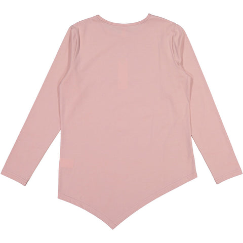 Ava and Lu Light Pink Asymmetrical Tee