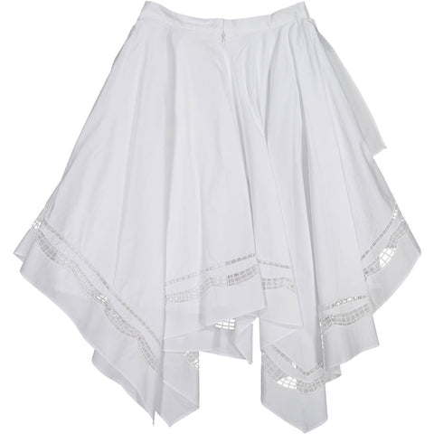 A4 White Cutout Asymmetrical Skirt