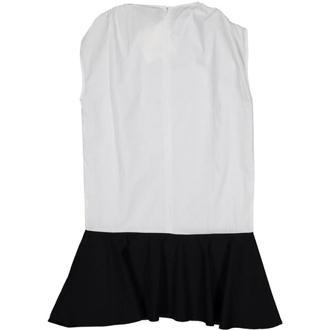 A4 White Bubble Dropwaist Dress