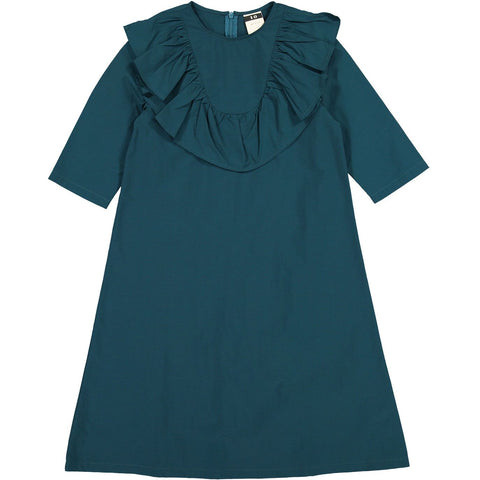 A4 Teal Ruffle Yolk Dress