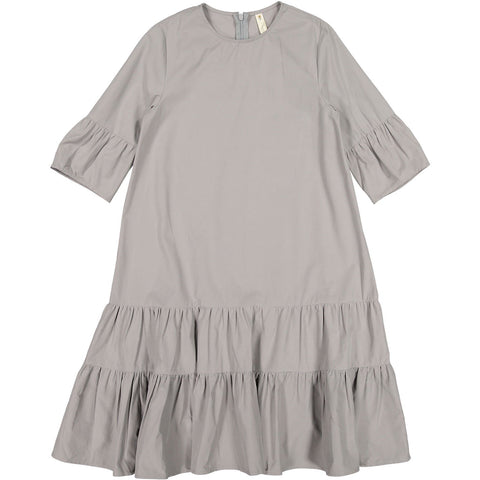 Ava and Lu Grey Dropwaist Tiered Dress