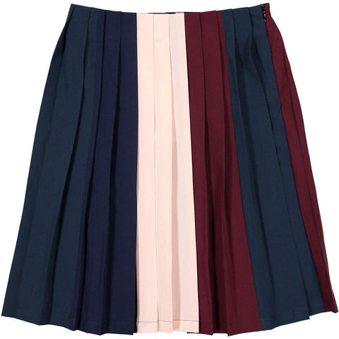 Ava & Lu Colorblock Pleated Skirt