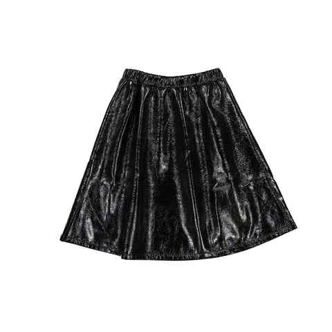 Ava and Lu Black Patent Leather Skirt