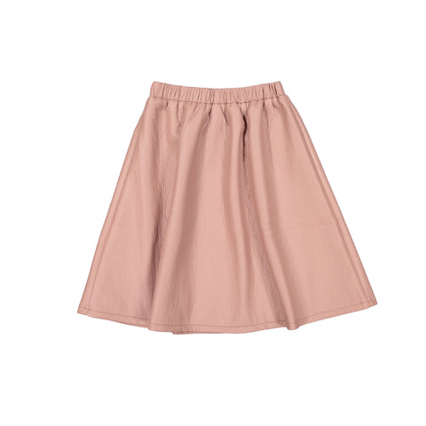 Ava and Lu Pink Leather Flair Skirt