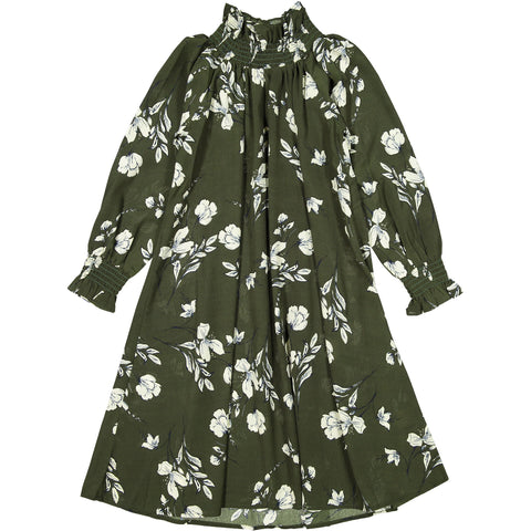 Ava and Lu Green Floral Dress