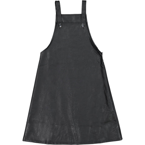 Ava and Lu Black Leather Overall Jumper