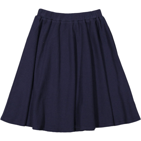 Ava and Lu Navy Waffle Knit Skirt