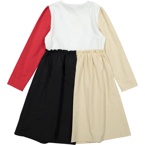 Ava and Lu Colorblock Taffeta Dress