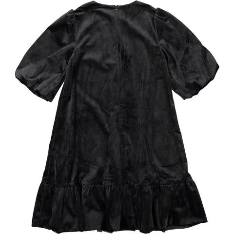 A4 Black Velvet Bubble Dress