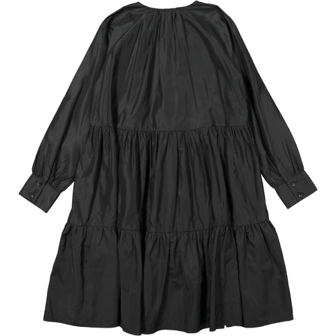 A4 Black Taffeta Dress
