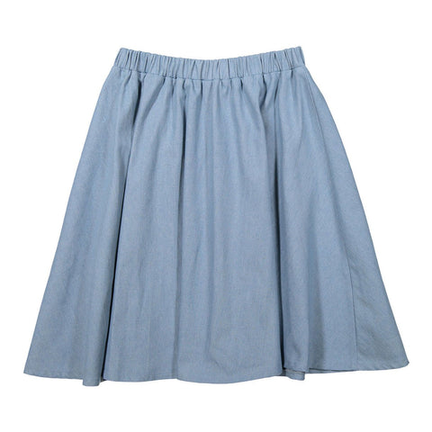 Ava and Lu Light Denim Flair Skirt