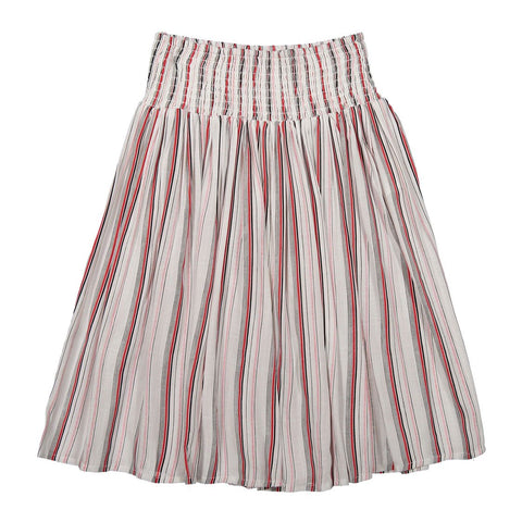 Ava and Lu Red Stripe Elasticated Skirt