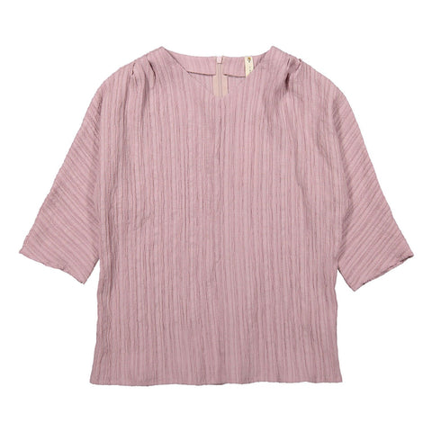 Ava and lu Mauve Crepe V-neck Blouse