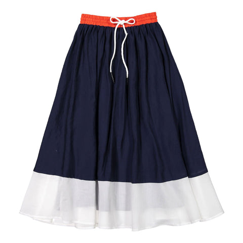 Ava and Lu Nautical Maxi Skirt