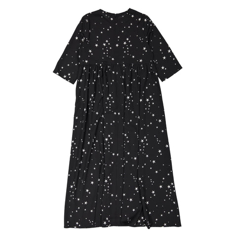 Ava and Lu Black Star Maxi Dress