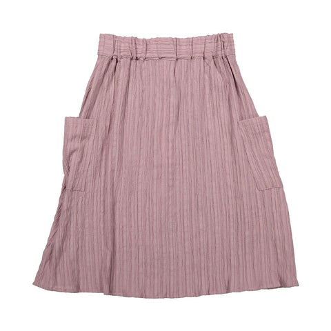 Ava and Lu Mauve Gauze Button Flair Skirt