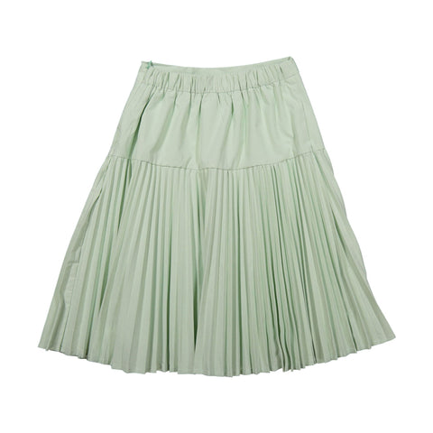 Ava and Lu Mint Dropwaist Pleated Skirt